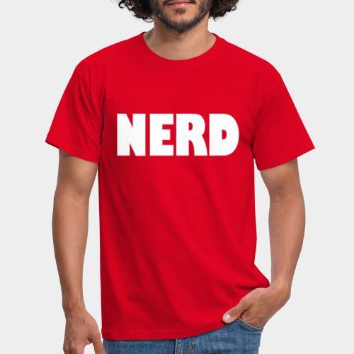 NERD Text Logo White - Men's T-Shirt