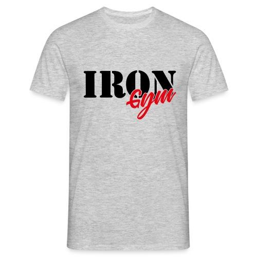 iron gym logo black - Camiseta hombre
