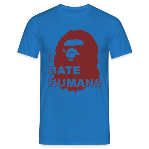 I hate humans - Maglietta da uomo