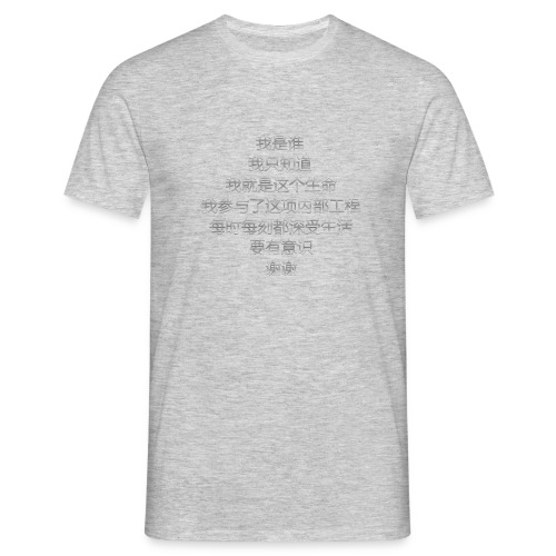 Who Am I en chinois Gris - T-shirt Homme