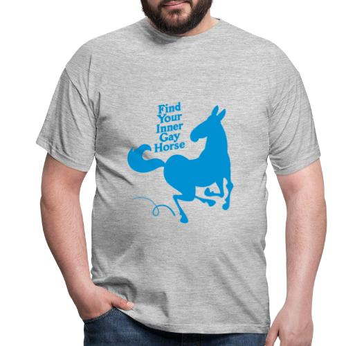 Find your inner gay horse - T-shirt herr