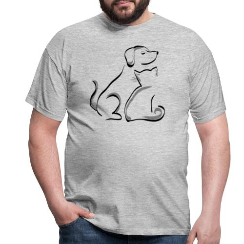 cat and dog stevanka - Männer T-Shirt
