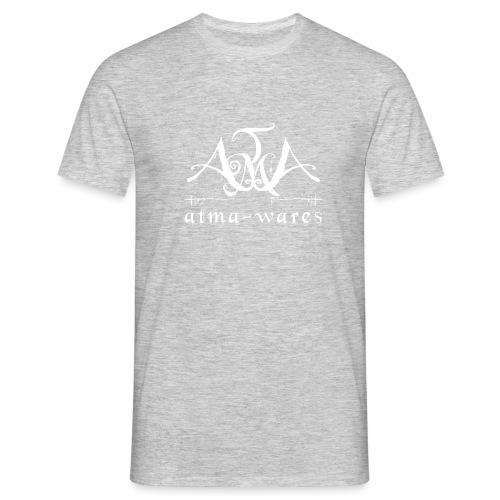 atma wares logo white - Mannen T-shirt