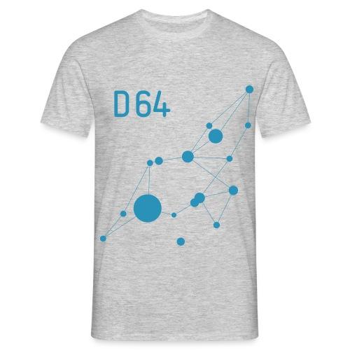 D64 Netzwerk einfarbig - Männer T-Shirt
