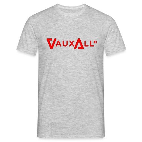 VauxAll Logo | Red | Original - Men's T-Shirt