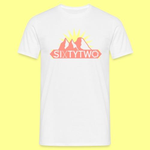 Peach & Yellow - Miesten t-paita