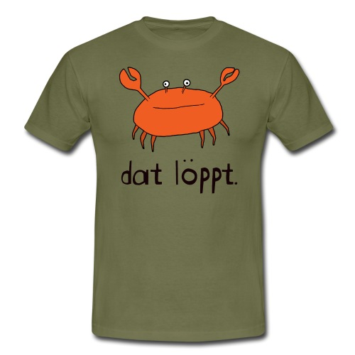Ostfriesland FUN Shirt - Dat Löppt Strandkrabbe - Männer T-Shirt