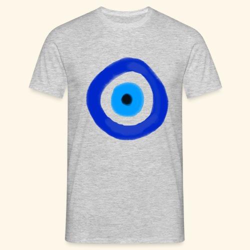 Blue evil eye Water Colour - T-shirt herr