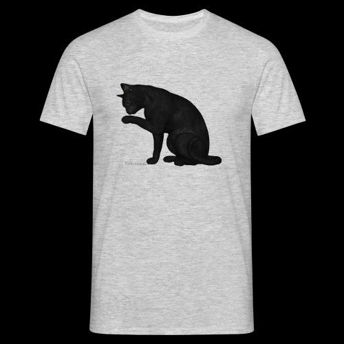 chat noir élégant - T-shirt Homme
