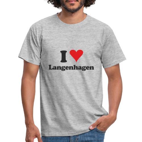 I Love Langenhagen - Männer T-Shirt