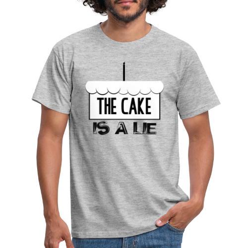 Der Kuchen ist eine Lüge - Männer T-Shirt