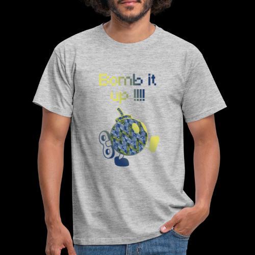 Bomb It Up : Blue Power !!! - T-shirt Homme