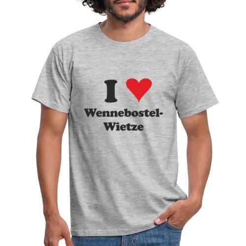 I Love Wennebostel-Wietze - Männer T-Shirt
