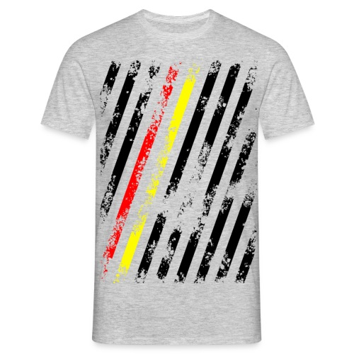 Stripes Schwarz Rot Gelb - Männer T-Shirt