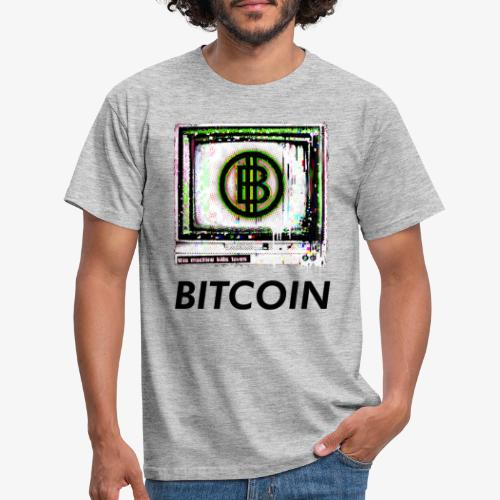 bitcoin Glitch - Männer T-Shirt
