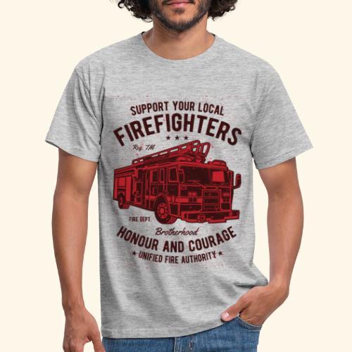 Fire-Fighters-Truck - Men's T-Shirt