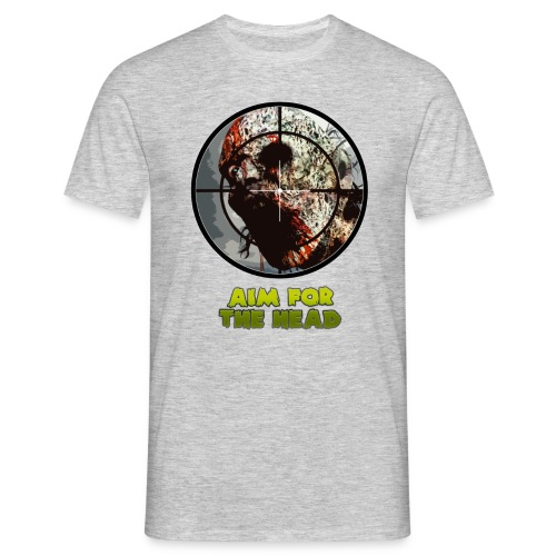 Aim For The Head Zombie Killers! - Men's T-Shirt