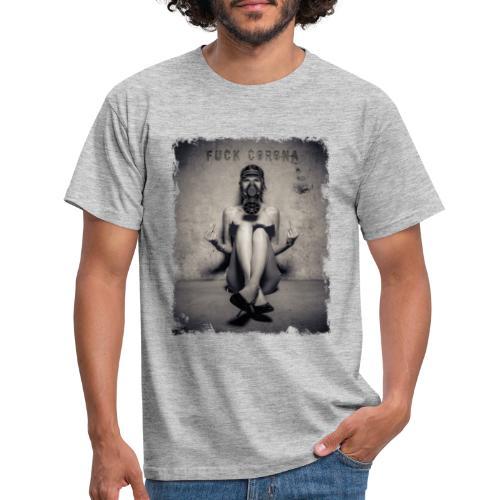 DOUBLE FUCK YOU CORONA - Männer T-Shirt