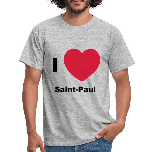 i love sainte paul - T-shirt Homme
