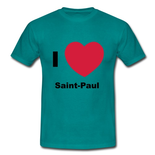 i love sainte paul - T-shirt Homme