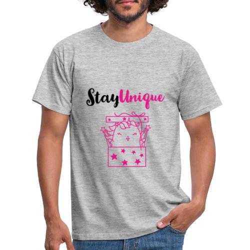 Stay Unique - Männer T-Shirt