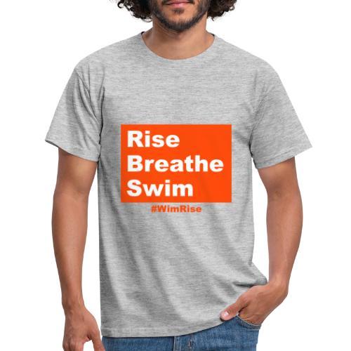 Rise Breathe Swim - Men's T-Shirt
