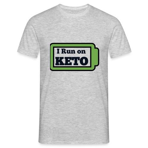 I run on KETO - Mannen T-shirt