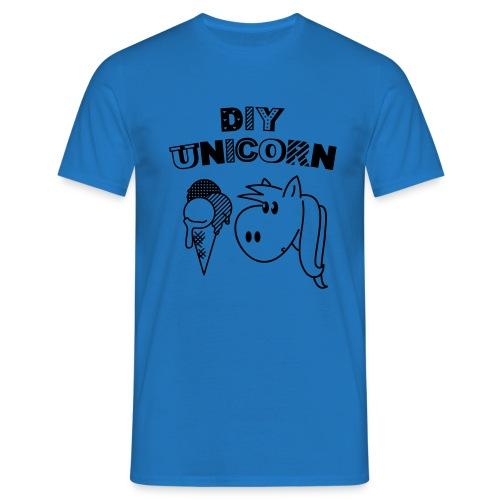 DIY Unicorn Einhorn - Männer T-Shirt