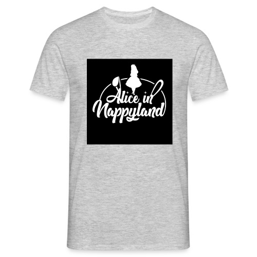 Alice in Nappyland TypographyWhite 1080 - Men's T-Shirt
