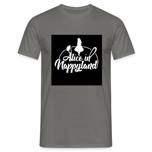 Alice in Nappyland TypographyWhite 1080 - Men's T-Shirt