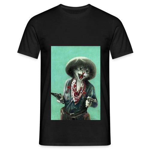 Vintage kitten Cow Girl - Men's T-Shirt