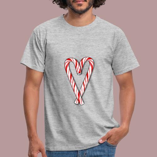 Sucre d'orge en forme de coeur - T-shirt Homme