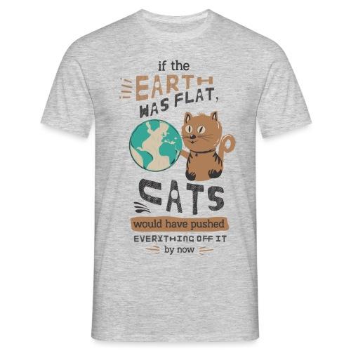 IF THE EARTH WAS FLAT - T-skjorte for menn