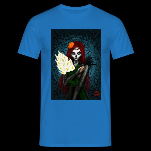 Death and lillies - Men's T-Shirt