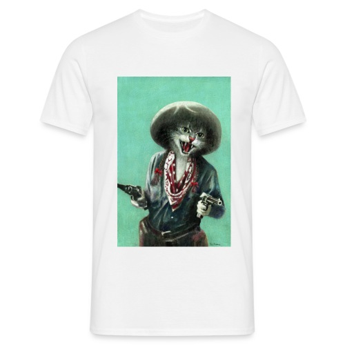Vintage kitten Cow Girl - Men's T-Shirt