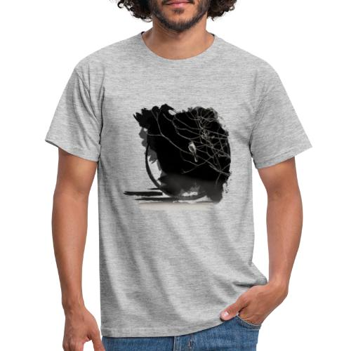 bird in zen circle above water bird on branch Zen - Men's T-Shirt