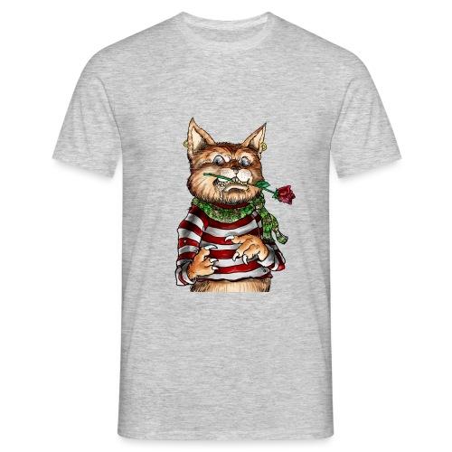 T-shirt - Crazy Cat - T-shirt Homme