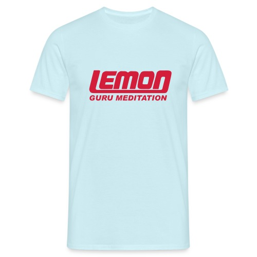 lemon logo guru - Men's T-Shirt