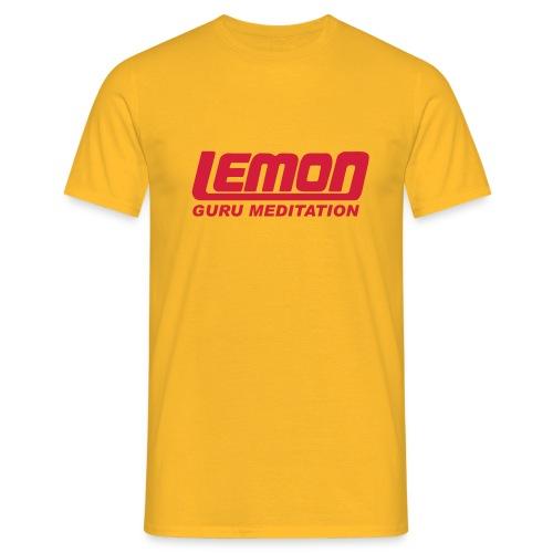 lemon logo guru - Men's T-Shirt