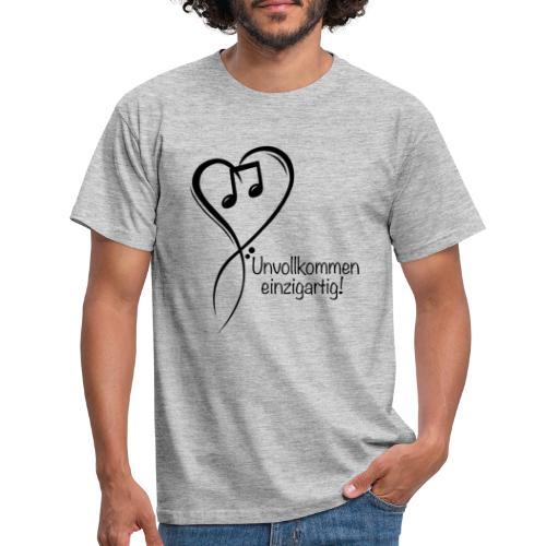 Unvollkommen einzigartig black - Männer T-Shirt