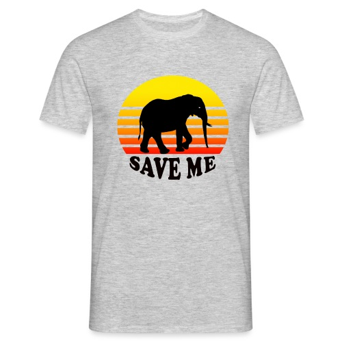 Elefant SAVE ME Schattenriss Sonne - Männer T-Shirt