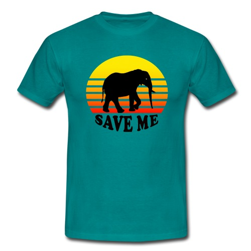 Elefant SAVE ME Schattenriss Sonne - Männer T-Shirt