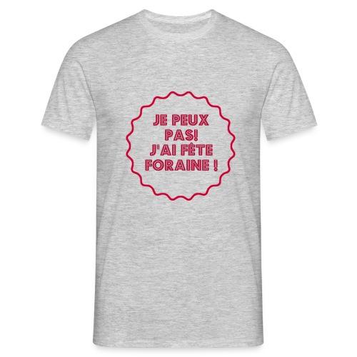 T-shirt divers fan de fête foraine peut pas fête - T-shirt Homme