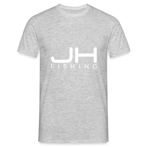 JH FISHING-Logo (Weiß) - Männer T-Shirt