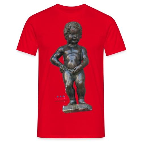 BiG REAL mannekenpis ♀♂   小便小僧 - T-shirt Homme