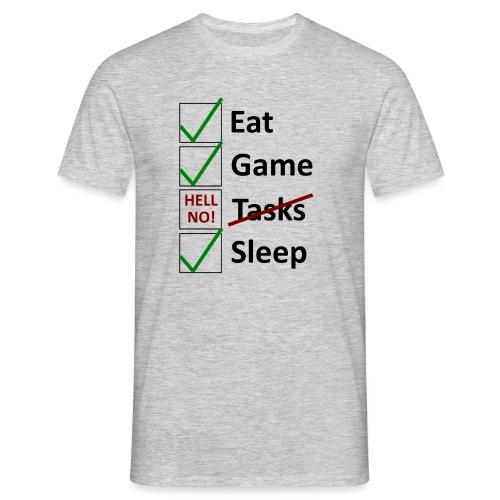 Schedule Shirt Black Version - Männer T-Shirt