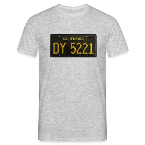 CALIFORNIA BLACK LICENCE PLATE - Men's T-Shirt