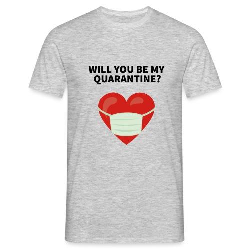 Herz mit Mundschutz und Schriftzug - Männer T-Shirt