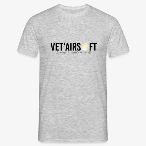 Logo Vet'Airsoft (noir) - T-shirt Homme