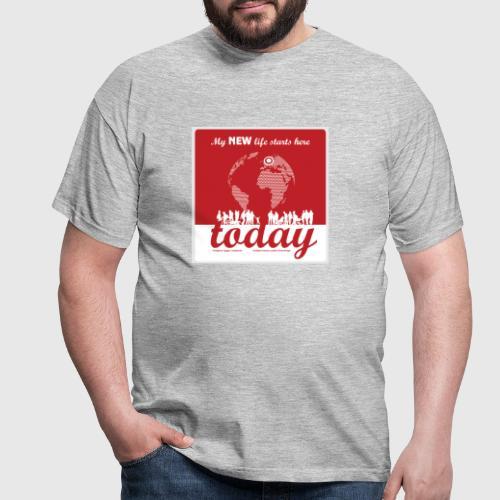 My NEW life starts here - Herre-T-shirt